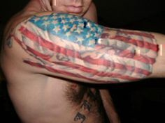 American flag tattoo sleeve