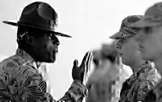 a sergeant at basic training