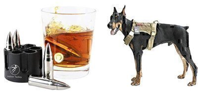bullet whiskey and dog harness