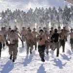military winter snow