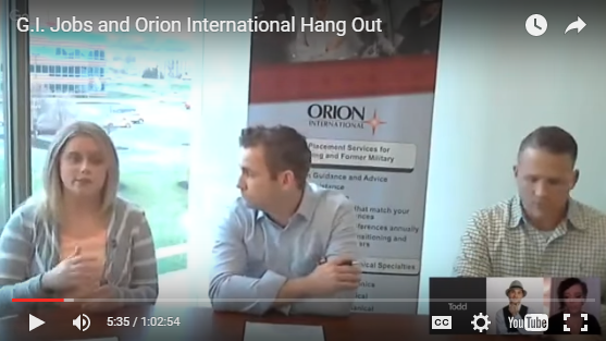 Veteran Recruiting Agency Orion International Tells All Webinar. A Must Watch!