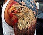American flag tattoo idea