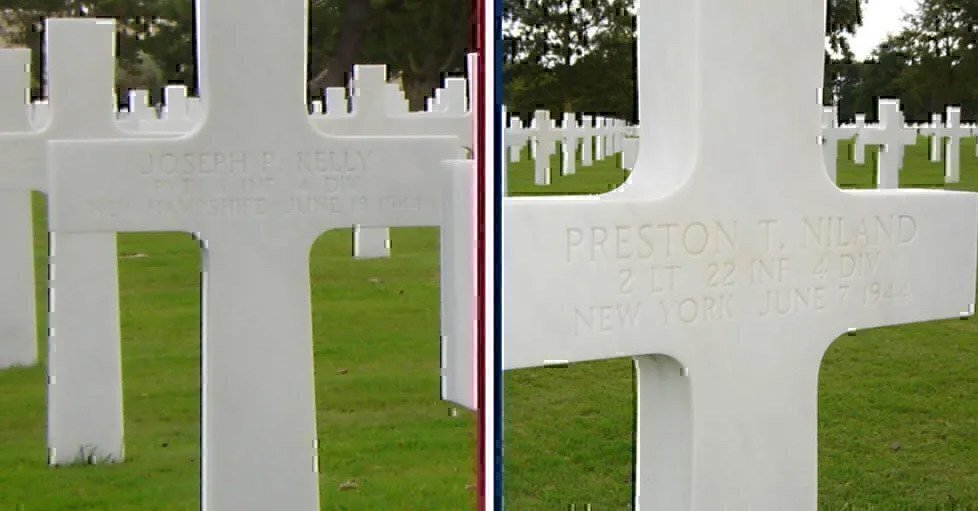 preston-and-robert-niland-rest-side-by-side-in-normand-american-cemetery