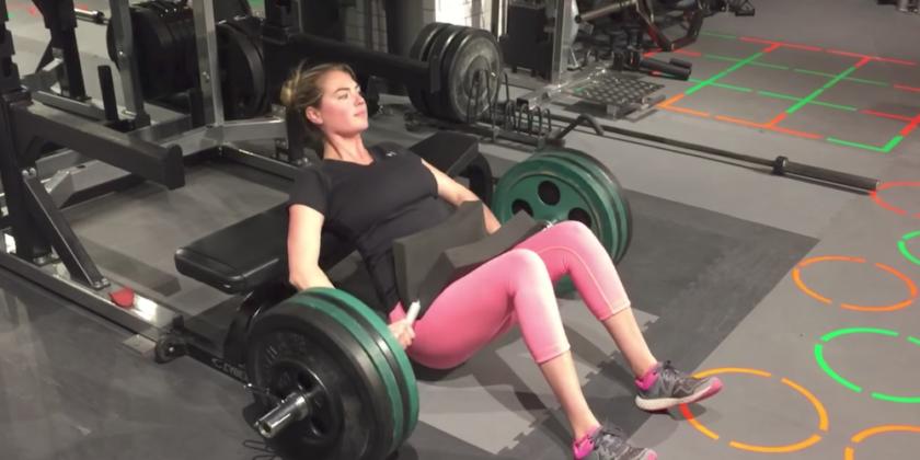 Watch Supermodel Kate Upton Take On A Marine Workout