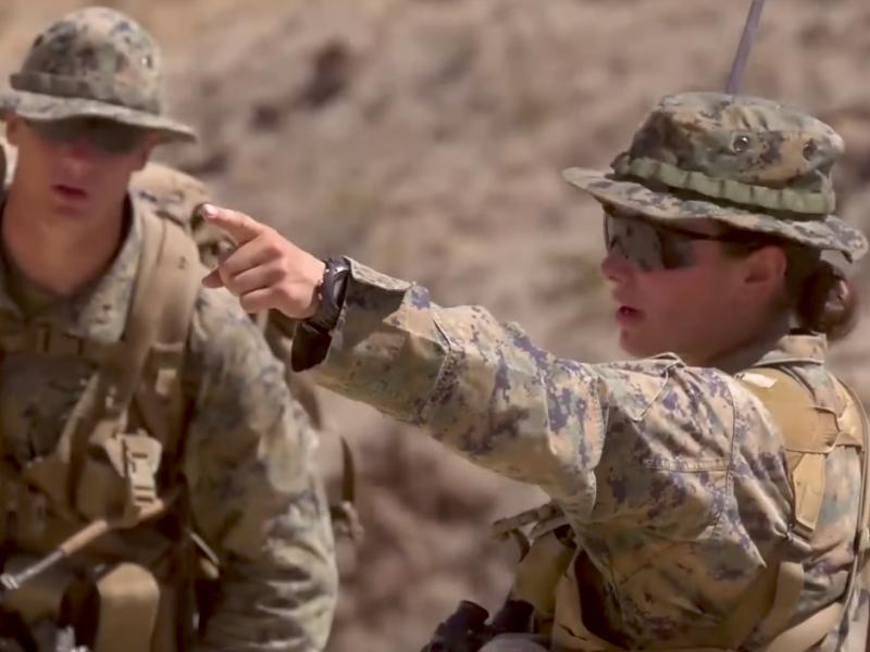 Female Infantry Officer