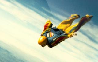 Veteran athlete skydiving