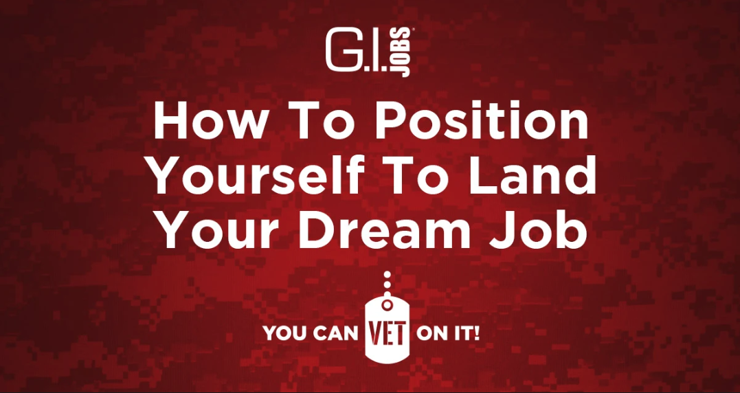 How To Position Yourself To Land Your Dream Job