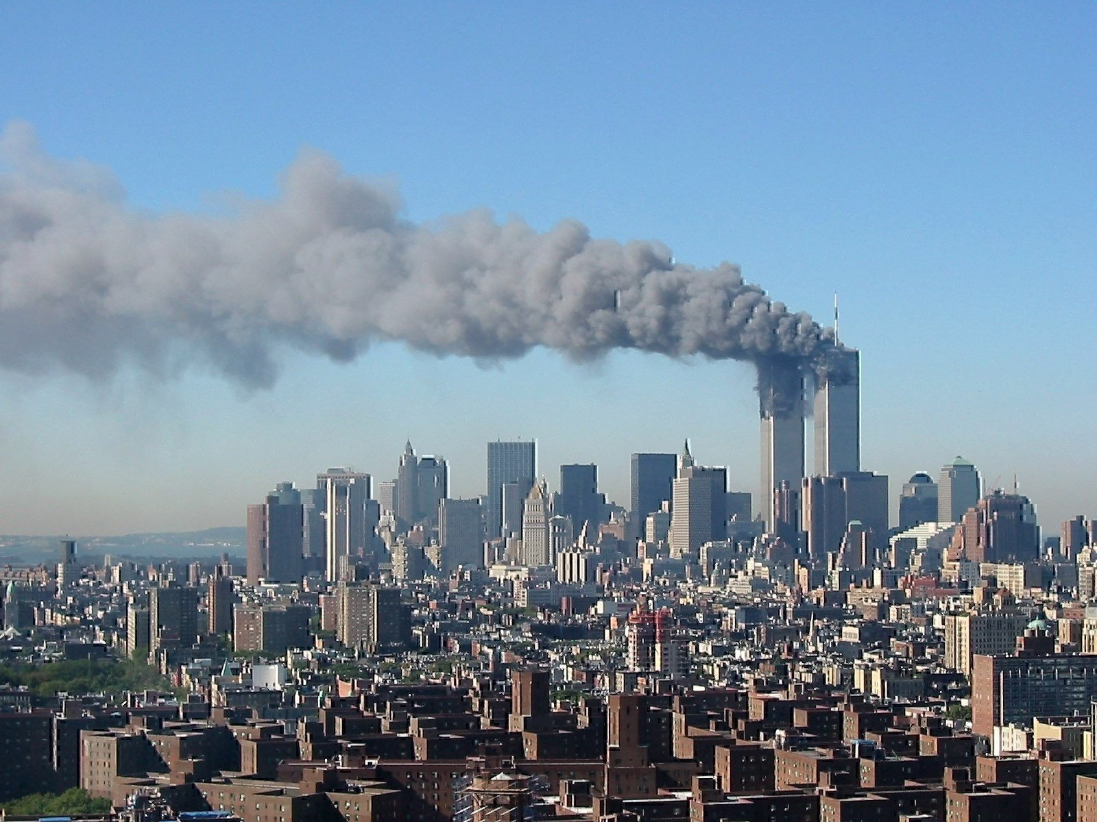 planes crash into World Trade Center Credit:  The New York Times