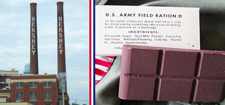 This is the Hershey Bar Custom-Made for WWII | Jobs for