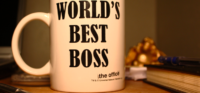 a picture of a world's best boss mug