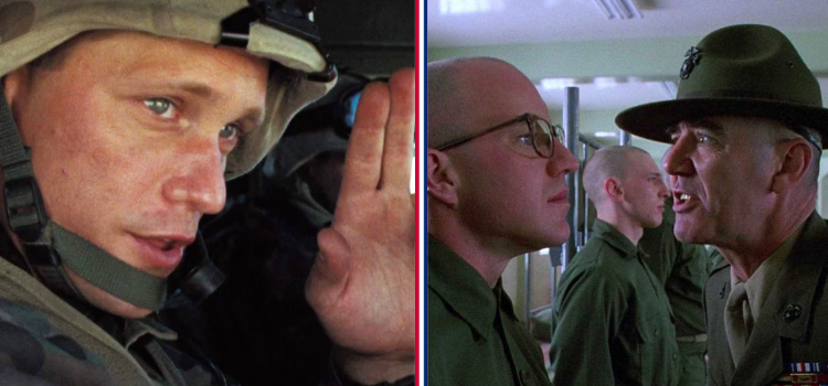 A mashup of full metal jacket and generation kill characters