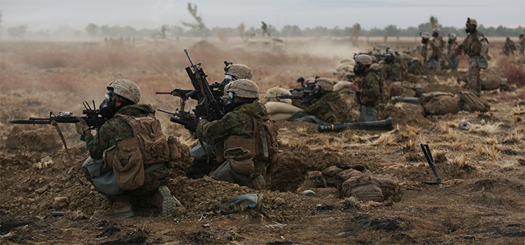 soldiers shooting on a live fire range