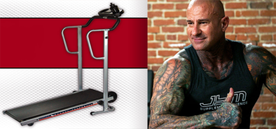 a picture of jim stoppani next to a treadmill