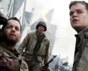 A screen shot from the movie saving private ryan
