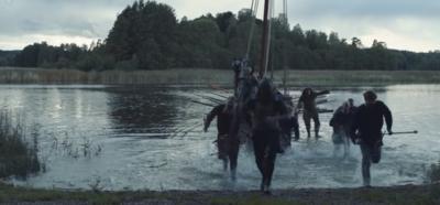 vikings raiding a beach