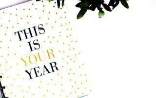 a picture of a notebook with this is your year written on it