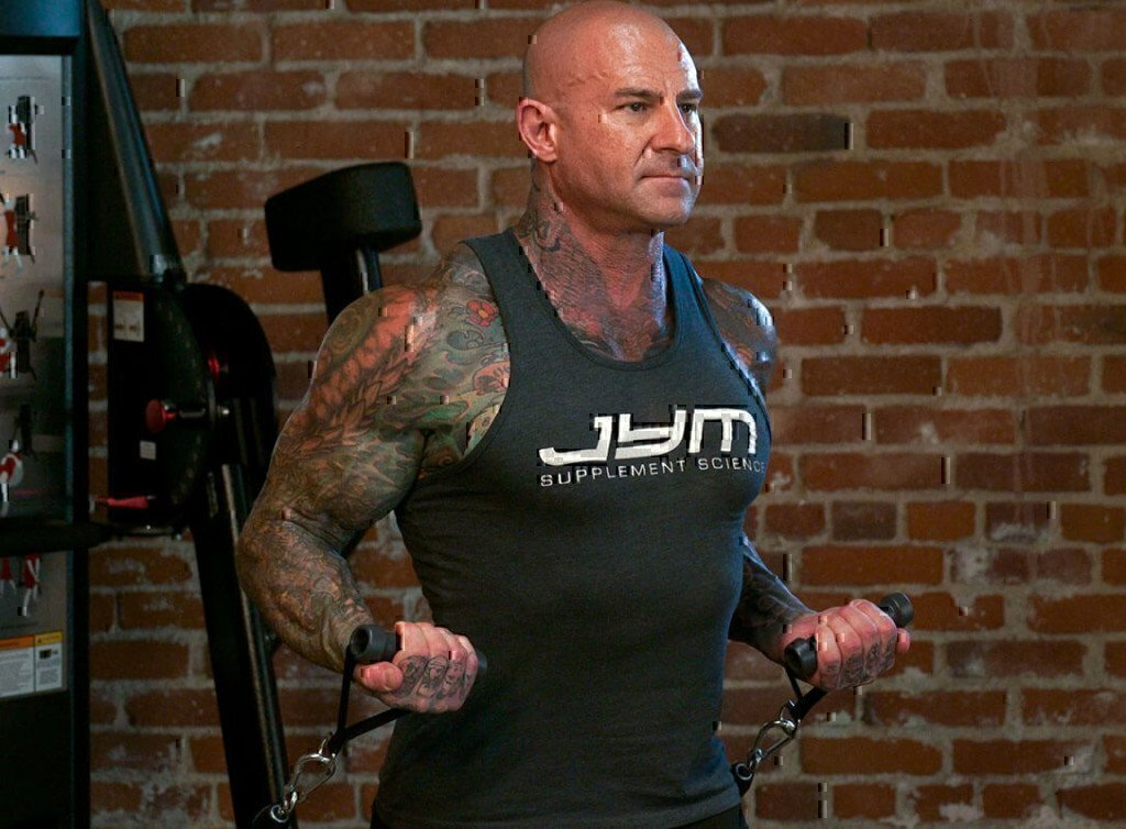 a picture of dr. jim stoppani lifting weights