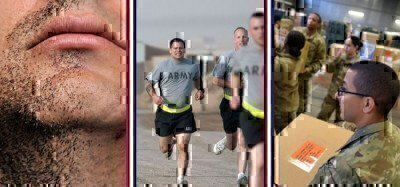 a picture of soldiers doing PT