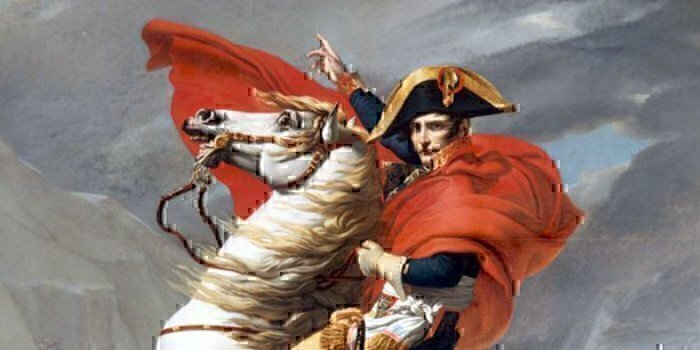 a picture of napoleon on a horse
