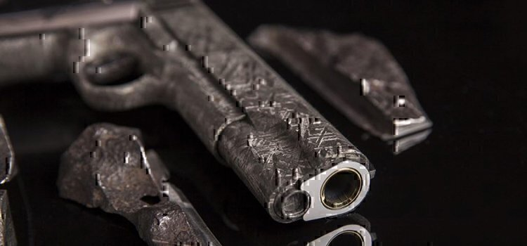 a m1911 made from meteorites