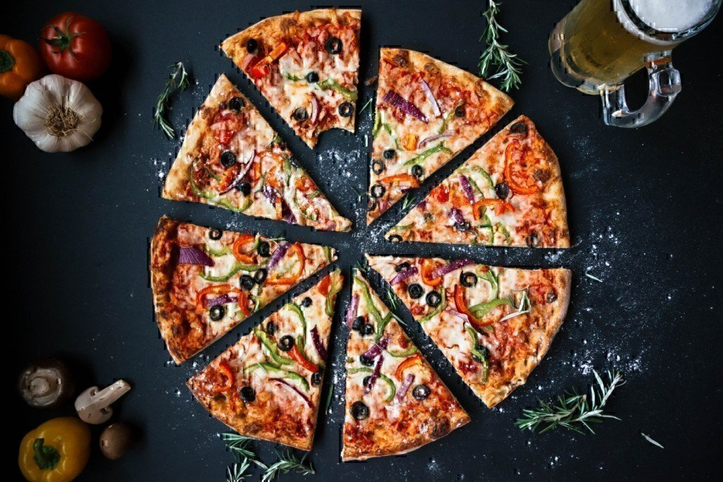 a picture of a pizza