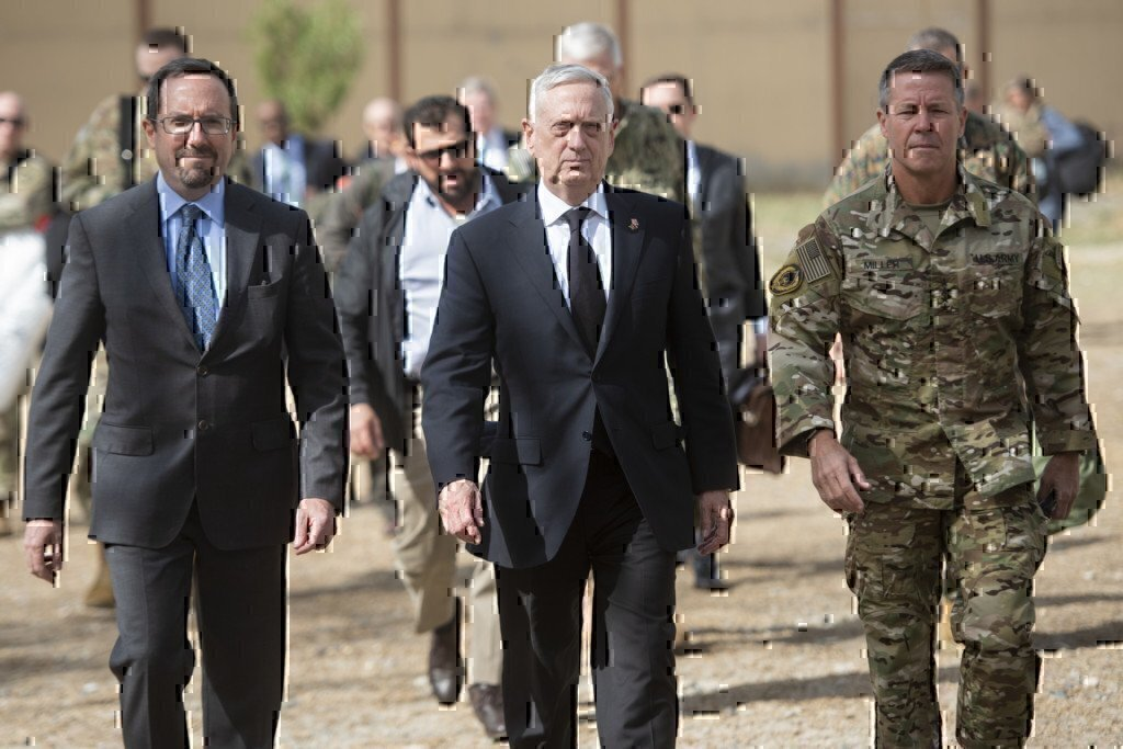 james mattis walking with general miller