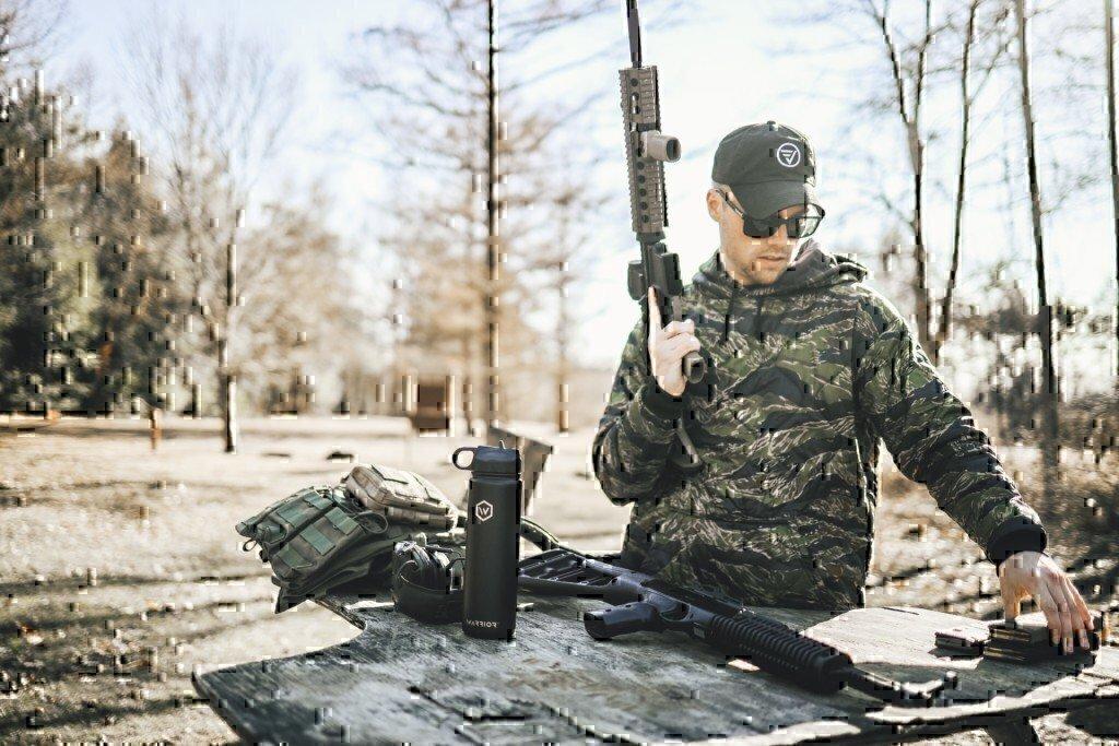 ethan merritt woobie hoodie on a range