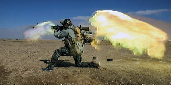 a special operations soldier shooting the carl gustav