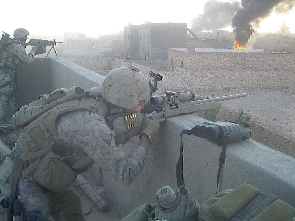 a sniper in the middle east