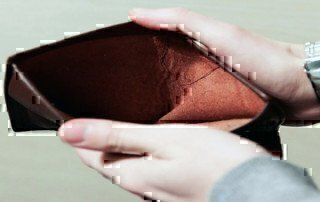 a wallet with no money in it