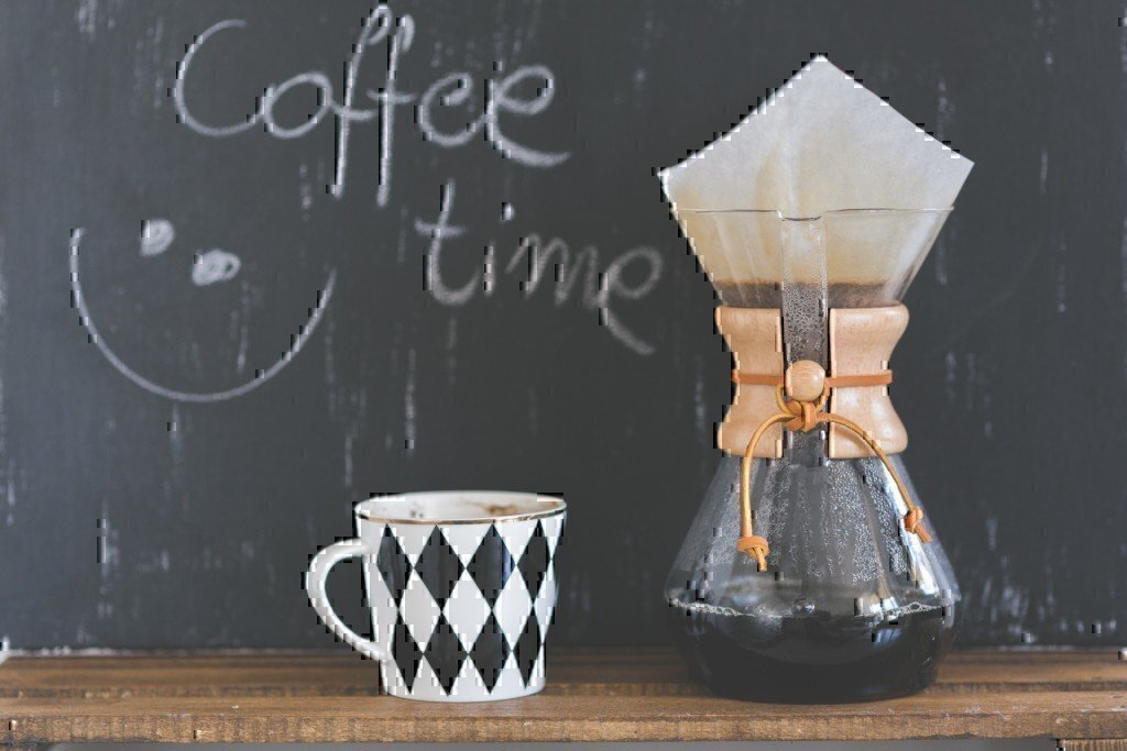 a chemex caffeine coffee setup