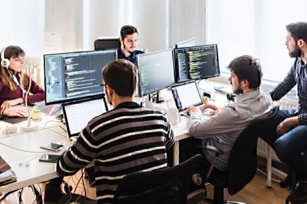 web developer hard at work