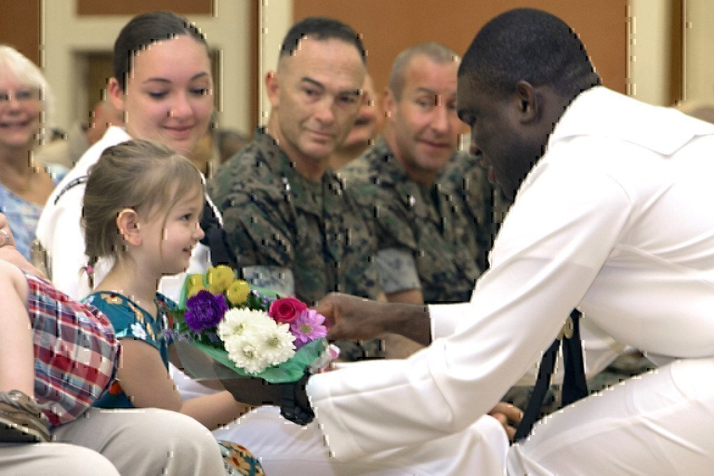 navy medical with a kid
