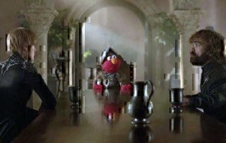 elmo and game of thrones