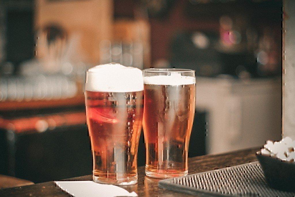 craft beer at a bar
