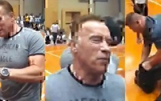 Arnold-Schwarzenegger-gets-drop-kicked