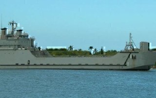 army-ship-on-water