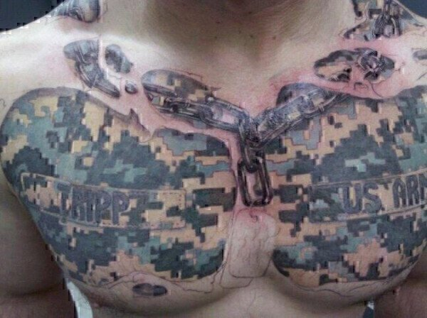 bad military tattoo